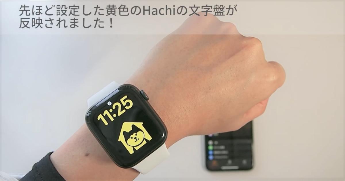 文字盤に「Hachi」を設置しよう!